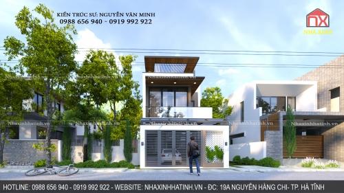 Chủ đầu tư: Anh Hoàn - TP. Hà Tĩnh - Trọn bộ thiết kế ngoại nội thất