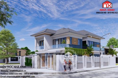 Mẫu nhà 2 tầng đẹp, đơn giản ở Hà Tĩnh