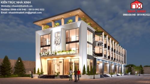 Mẫu thiết kế khách sạn hiện đại đẹp tại Thiên Cầm, Hà Tĩnh