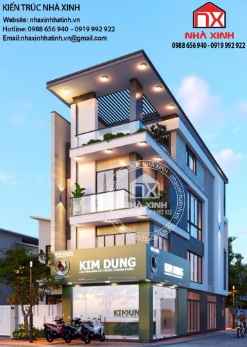 Mẫu thiết kế nhà ở kết hợp kinh doanh đẹp tại Hà Tĩnh