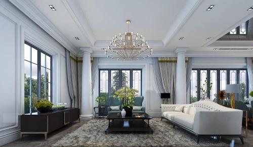 Tổng hợp các mẫu thiết kế nội thất biệt thự tân cổ điển đẹp