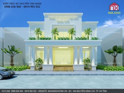 Thiết kế nhà hàng tiệc cưới Thiên Cầm - Cẩm Xuyên - Hà Tĩnh