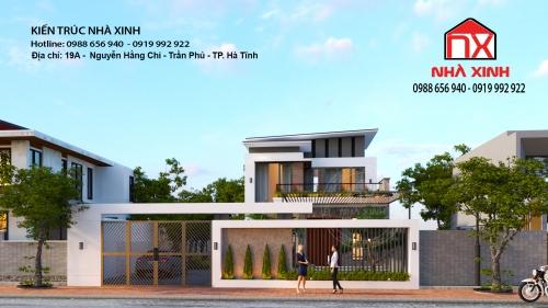Thiết kế nhà tại Hà Tĩnh - nhà anh Dương - Hương Khê - Hà Tĩnh