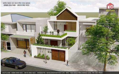Mẫu thiết kế nhà ở đẹp tại TP Hà Tĩnh