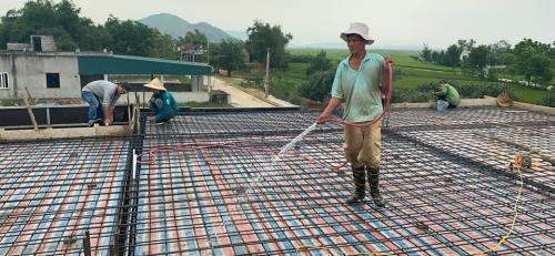 Công trình trọn gói nhà chị Thuỷ - Kỳ Khang giai đoạn đổ sàn tầng 1