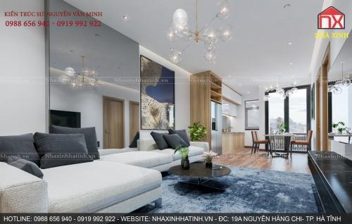 Nội thất chung cư 65m2 - 2 Phòng ngủ (Nhà ở xã hội - Thạch Linh - Hà Tĩnh)