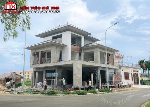 Công trình thực tế nhà 3 tầng mái Nhật tại thành phố Hà Tĩnh