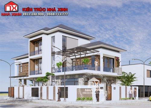 Công trình thực tế nhà 3 mặt tiền tại thành phố Hà Tĩnh