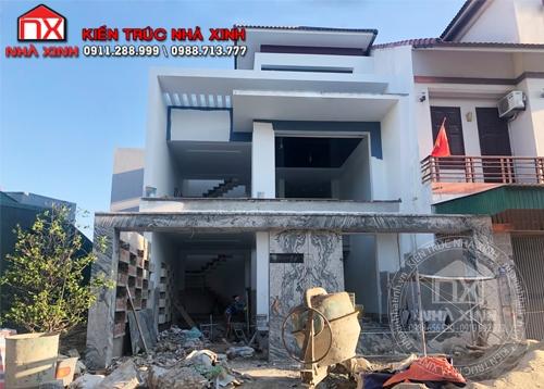 Công trình thực tế nhà 3 tầng chủ đầu tư anh Quyết tại thành phố Hà Tĩnh