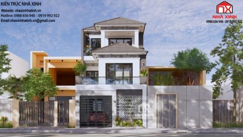 Mẫu thiết kế nhà phố 3 tầng mặt tiền 6,6m hiện đại, cuốn hút