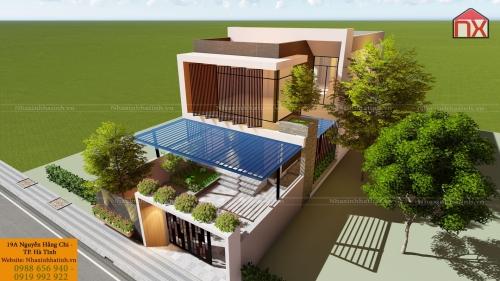 Thiết kế nhà Anh Phong - Huyện Kỳ Anh