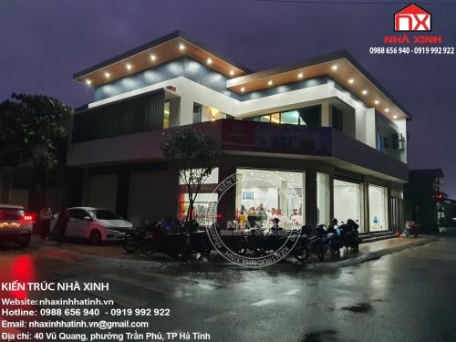Hình ảnh thực tế công trình nhà ở kết hợp siêu thị mini - bác Mậu, Cẩm Xuyên