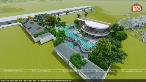 Thiết kế quán cafe ở Hà Tĩnh - Cafe Garden - Thị Xã Kỳ Anh