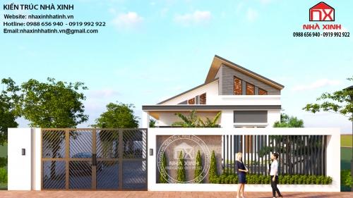 Mẫu thiết kế nhà một tầng đẹp tại Hương Khê, Hà Tĩnh