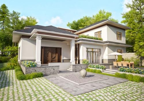 Mẫu thiết kế nhà vườn 2 tầng đẹp Hà Tĩnh