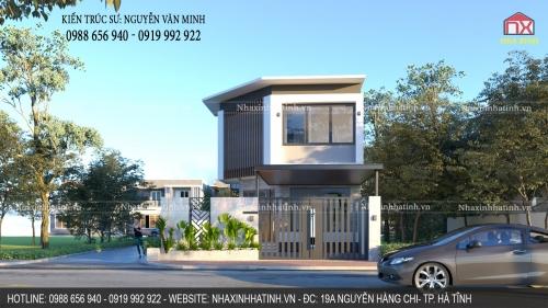 Thiết kế nhà 2 mặt tiền tại TP. Hà Tĩnh