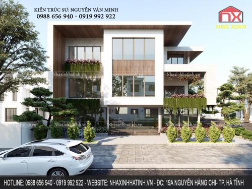 Thiết kế thi công nhà đẹp - những thiết kế nhà ở kết hợp kinh doanh đẹp của Nhà Xinh tại Hà Tĩnh
