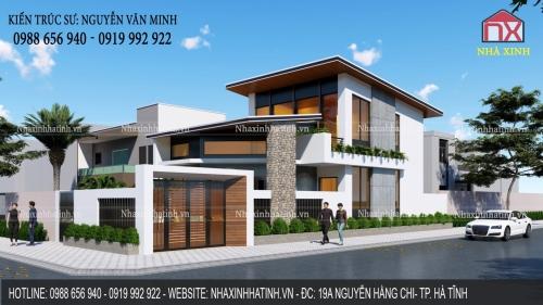 Thiết kế nhà ở đẹp tại Đại Nài, TP. Hà Tĩnh