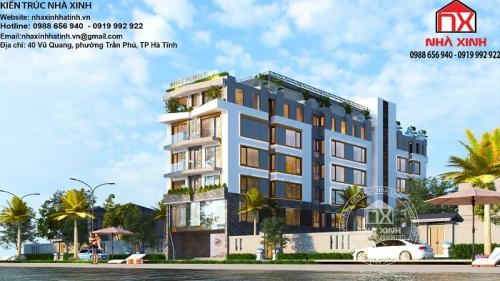 Mẫu thiết kế khách sạn Khai Family không cầu kỳ nhưng đẹp ở Hà Tĩnh