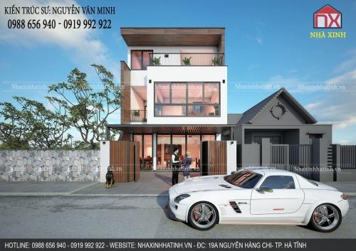 Thiết kế nhà 3 tầng đẹp hiện đại