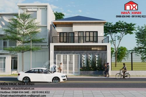 Mẫu nhà 2 tầng thiết kế đơn giản với 4 phòng ngủ tại TP Hà Tĩnh
