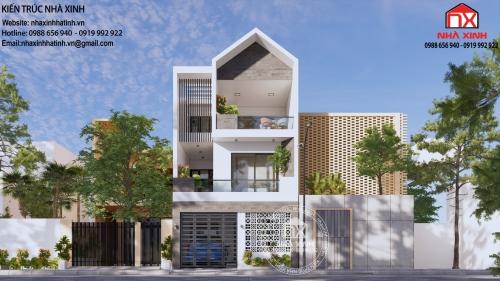 Thiết kế nhà phố 3 tầng theo phong cách hiện đại tại Hà Tĩnh
