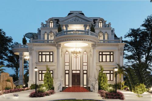 Tổng hợp một số thiết kế biệt thự lâu đài - xa hoa - lộng lẫy