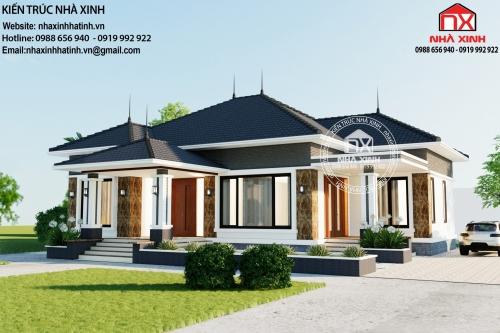 Mẫu thiết kế nhà cấp 4 siêu đẹp ở Hà Tĩnh