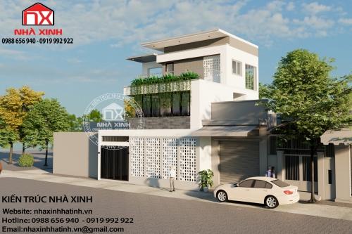 Mẫu thiết kế nhà 3 tầng hiện đại giá rẻ tại Lộc Hà, Hà Tĩnh