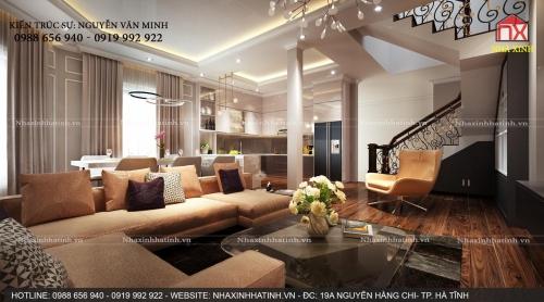 Thiết kế và thi công nội thất biệt thự đep, khách hàng anh Bắc tại Bắc TP. Hà Tĩnh