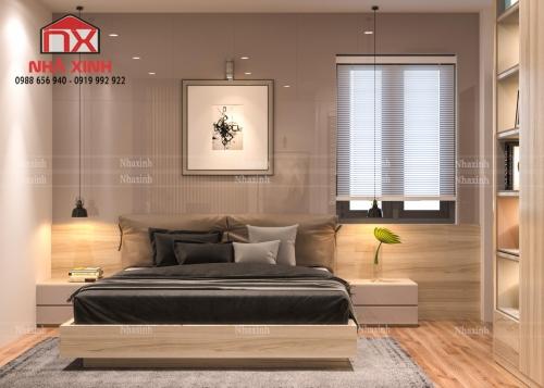 Thiết kế nội thất phòng ngủ đẹp, hiện đại tại TP Hà Tĩnh