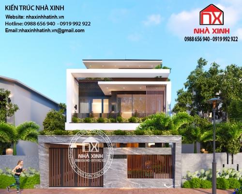 Mẫu nhà 2,5 tầng đẹp hiện đại, ấn tượng tại TP Hà Tĩnh